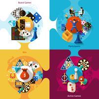 Set di design di giochi vettore