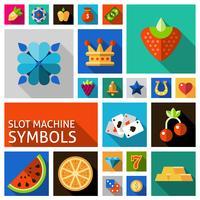 Set di simboli di slot machine vettore