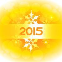 design di Capodanno in tema giallo con fiocchi di neve vettore