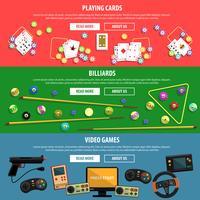 Set di banner di giochi