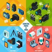Set di video foto isometrici