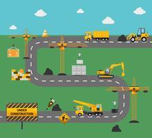 Concetto di costruzione di strade vettore