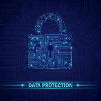 Concetto di protezione dei dati vettore