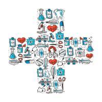 Forma a croce medica