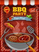 poster festa barbecue vettore