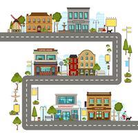 Illustrazione della via della città vettore