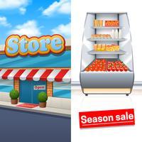 Set di banner del supermercato
