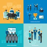 Set di affari piatta