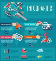 Set di infografica seo
