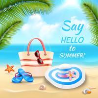 Illustrazione di sfondo vacanza