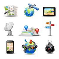 Icone di navigazione realistiche