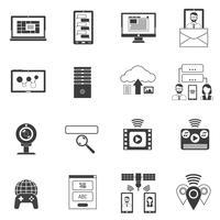Set di icone nere vettore