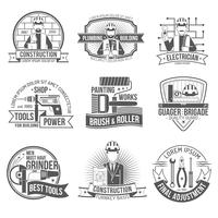 Set di etichette di costruzione vettore