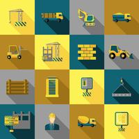 Icone di costruzione piatte