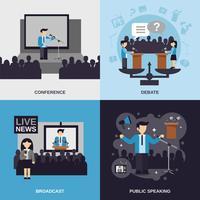 Set piatto per parlare in pubblico