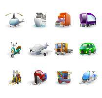 Set di icone di trasporto e consegna
