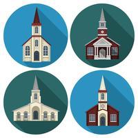 Chiesa piatta vettore