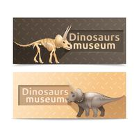 Bandiere orizzontali del museo dei dinosauri vettore