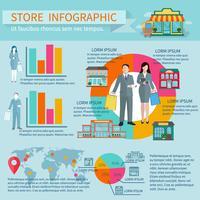 Memorizza set infografica vettore