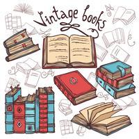 Set di libri di schizzo