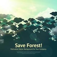 Salva l'illustrazione della foresta vettore