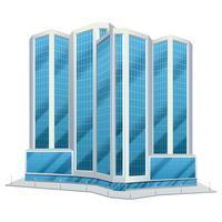 Illustrazione di vetro urbano edifici alti