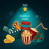 Illustrazione di sfondo del cinema