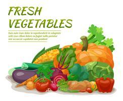 Illustrazione di verdure fresche vettore