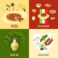 Concetto di design alimentare italiano vettore