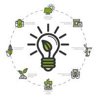 Illustrazione di energia verde vettore