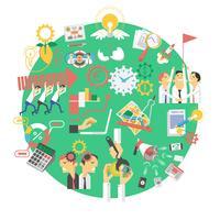 Icona di concetto di business globale verde vettore