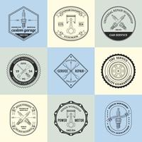 Riparare gli emblemi del laboratorio vettore