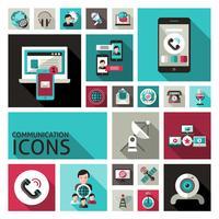 Set di icone di comunicazione vettore