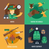 Set piatto da caccia vettore