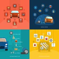 concetto di design di auto service vettore