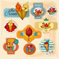 Etichette di gelato vettore