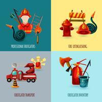 Set di design di vigile del fuoco