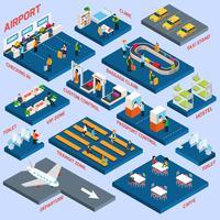 Concetto isometrico dell'aeroporto