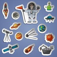 Set di adesivi spaziali