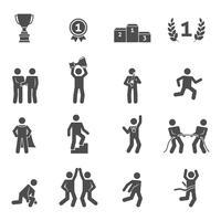 Icone di concorrenza nere vettore