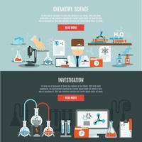 Set di banner di chimica vettore