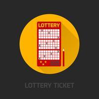 Icona della carta della lotteria piatta vettore