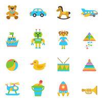 Icona piana di giocattoli vettore