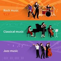 Set di banner di musicisti