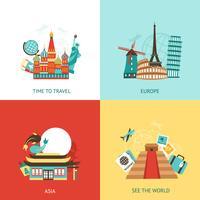 Concetto di design di viaggio