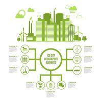 Eco città infografica vettore