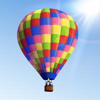 Aerostato di aria realistico vettore