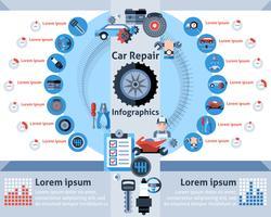 Set di infografica di riparazione auto vettore