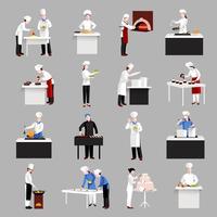 Set di icone di cottura vettore