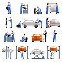 Set di icone del meccanico vettore